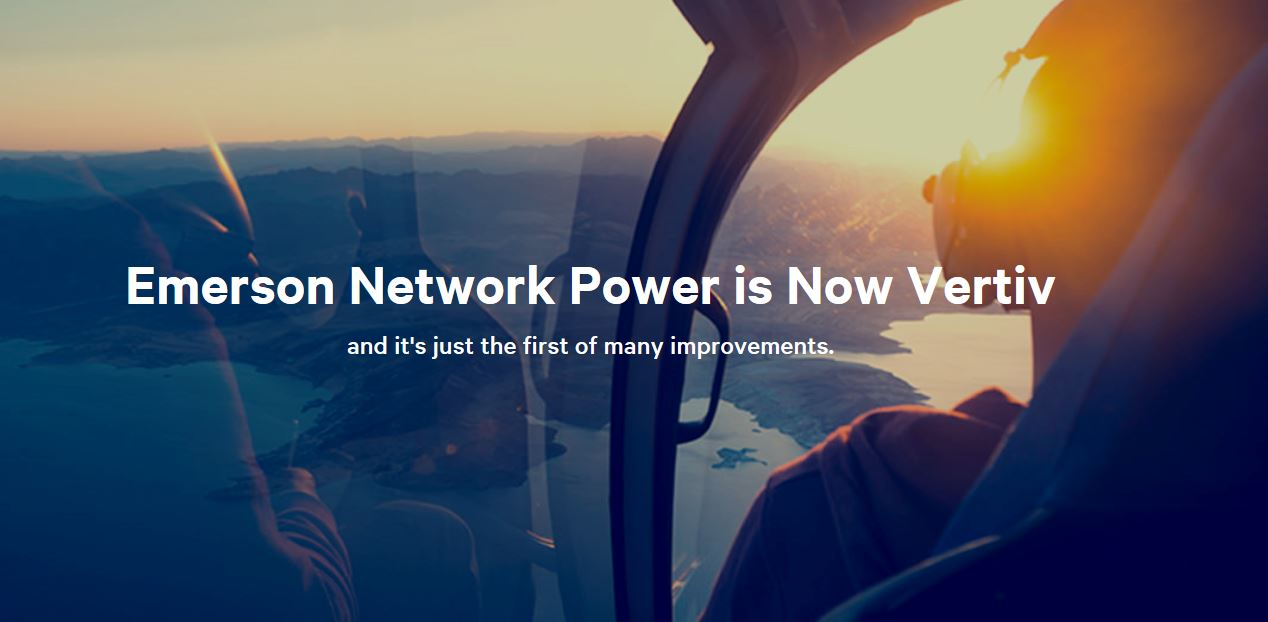 Emerson Network Power Now Vertiv