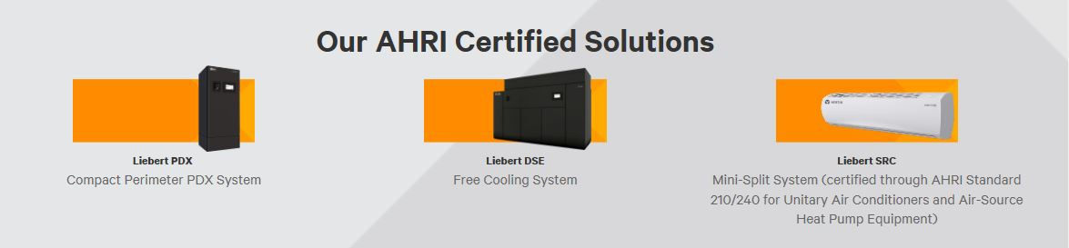 Liebert Products AHRI Certified!